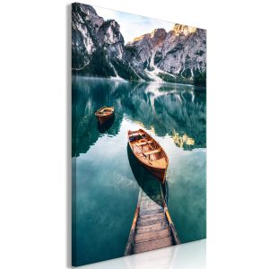 Kuva - Boats In Dolomites (1 Part) Vertical-1
