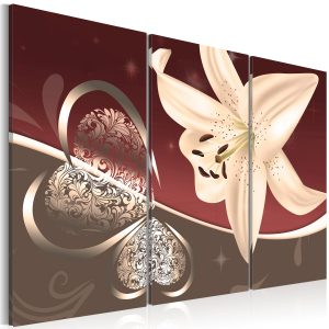 Kuva - Abstraction with lily - triptych-1