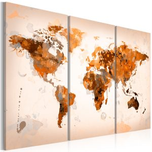 Kuva - Map of the World - Desert storm - triptych-1