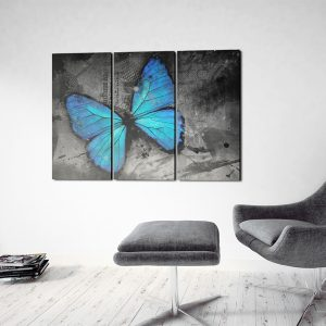 Kuva - The study of butterfly - triptych-2