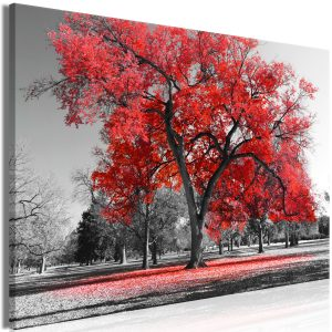 Kuva - Autumn in the Park (1 Part) Wide Red-1