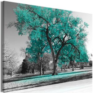 Kuva - Autumn in the Park (1 Part) Wide Turquoise-1
