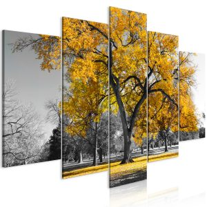 Kuva - Autumn in the Park (5 Parts) Wide Gold-1