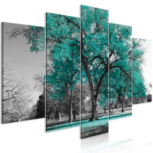 Kuva - Autumn in the Park (5 Parts) Wide Turquoise-1