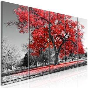 Kuva - Autumn in the Park (5 Parts) Narrow Red-1