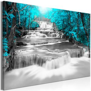 Kuva - Cascade of Thoughts (1 Part) Wide Turquoise-1
