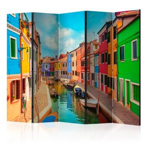 Sermi - Colorful Canal in Burano II [Room Dividers]-1