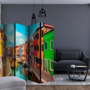 Sermi - Colorful Canal in Burano II [Room Dividers]-2