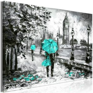Kuva - Walk in London (1 Part) Wide Turquoise-1