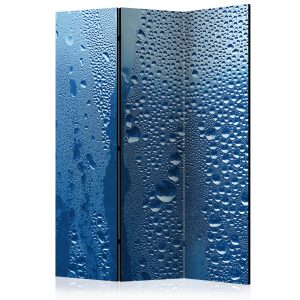 Sermi - Water drops on blue glass [Room Dividers]-1