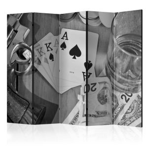 Sermi - Cards: black and white II [Room Dividers]-1