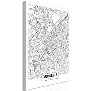 Kuva - Map of Brussels (1 Part) Vertical-1