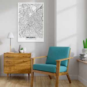 Kuva - Map of Brussels (1 Part) Vertical-2