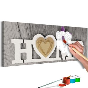 DIY kangas maalaus - Home and Butterfly-1