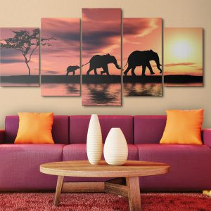 Kuva - African elephants family-2