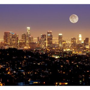 Fototapetti - Moon over City of Angels-2