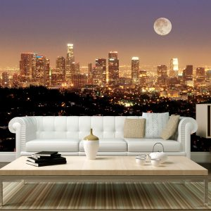 Fototapetti - Moon over City of Angels-1
