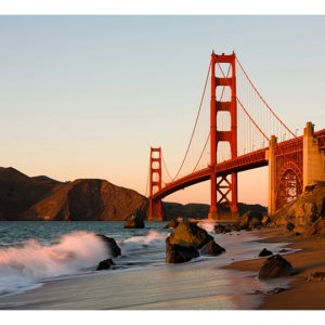 Fototapetti - Golden Gate Bridge - sunset, San Francisco-2