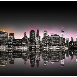 Fototapetti - Colorful glow over NYC-2