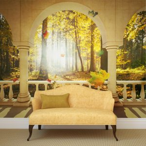 Fototapetti - Dream about autumnal forest-1
