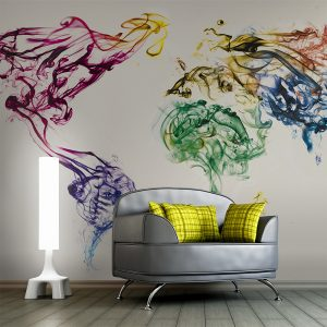Fototapetti - Dancing smoke trails-1