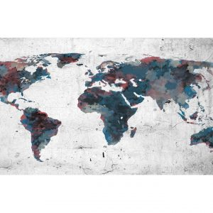 Fototapetti XXL - World map on the wall-2