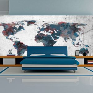 Fototapetti XXL - World map on the wall-1