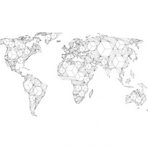 Fototapetti XXL - Map of the World - white solids-2