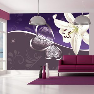 Fototapetti - Lily in shades of violet-1