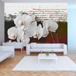 Fototapetti - Diary and orchid-1