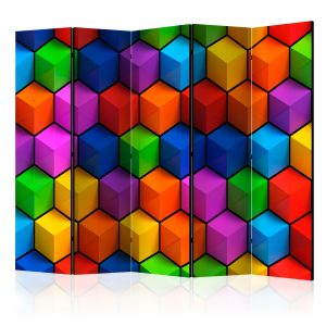 Sermi - Colorful Geometric Boxes II [Room Dividers]-1