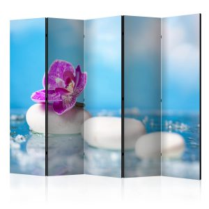 Sermi - Pink Orchid and white Zen Stones II [Room Dividers]-1
