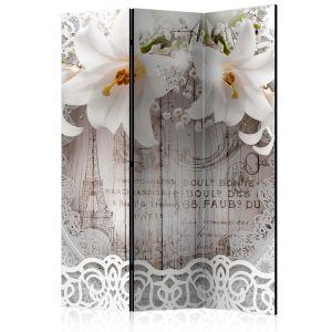 Sermi - Lilies and Quilted Background [Room Dividers]-1