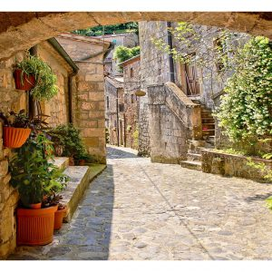 Fototapetti - Provincial alley in Tuscany-2