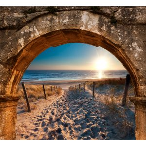 Fototapetti - Arch and Beach-2