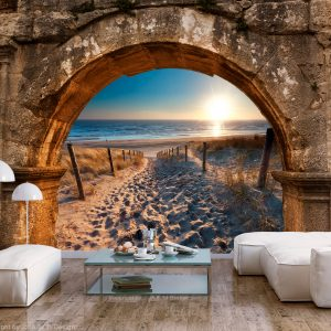 Fototapetti - Arch and Beach-1