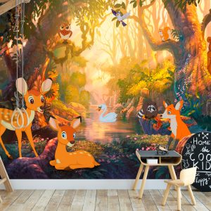 Fototapetti - Animals in the Forest-1
