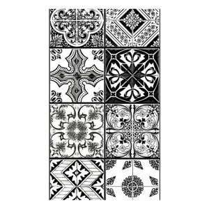 Fototapetti - Arabesque - Black& White-2