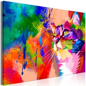 Kuva - Colourful Cat (1 Part) Wide-1