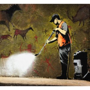 Fototapetti - Banksy - Cave Painting-2