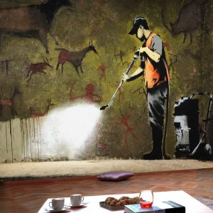 Fototapetti - Banksy - Cave Painting-1