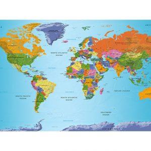 Fototapetti XXL - World Map: Colourful Geography II-2