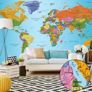 Fototapetti XXL - World Map: Colourful Geography II-1