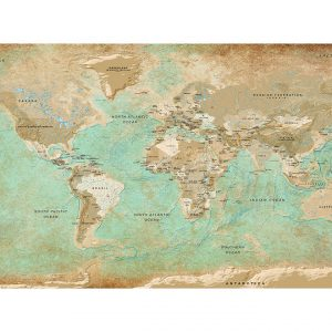 Fototapetti XXL - Turquoise World Map II-2