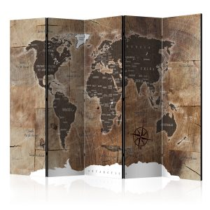 Sermi - Room divider – Map on the wood-1